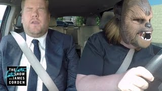 The Happy Chewbacca Mom Got to Do Carpool Karaoke With J.J. Abrams and James Corden