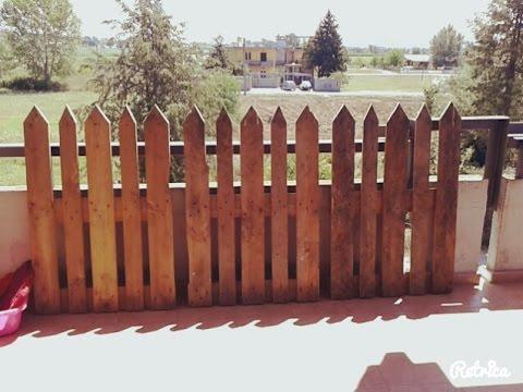 COSTRUIRE UNA STACCIONATA CON I PALLETS - Fence made from pallets