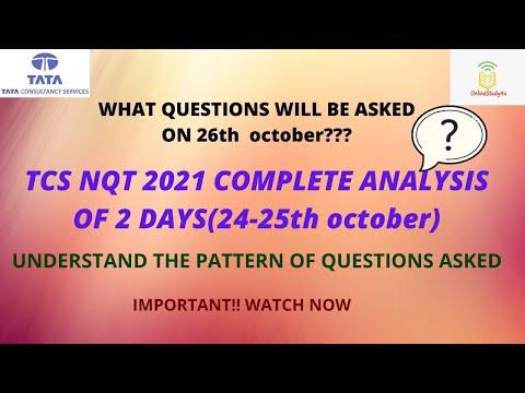 TCS NQT 2021 complete analysis   TCS nqt questions