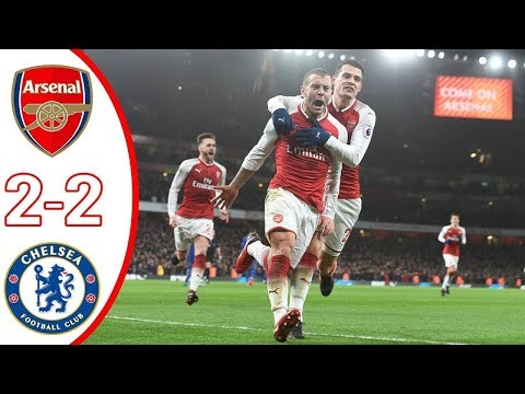 Arsenal vs Chelsea 2-2 Goals and Highlights 03/01/2018