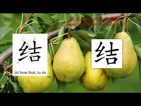 Origin of Chinese Characters - 0659A 结 結 jié bear fruit - Learn Chinese with Flash Cards
