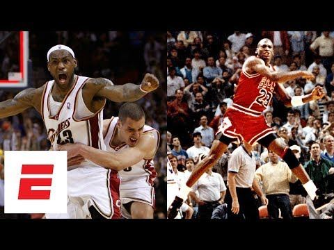 All of LeBron James' and Michael Jordan's NBA playoff game-winning shots | ESPN