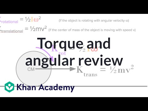 Ap Physics 1 Review Of Torque And Angular Momentum Video Khan