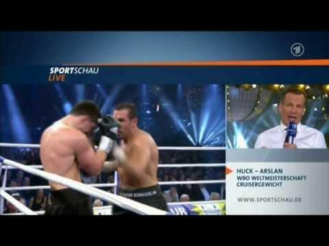 huck - Boxen-revanche-zwischen-Huck und Arslan 6 Runde mit einer Serie schickt Huck Arslan zu Boden.