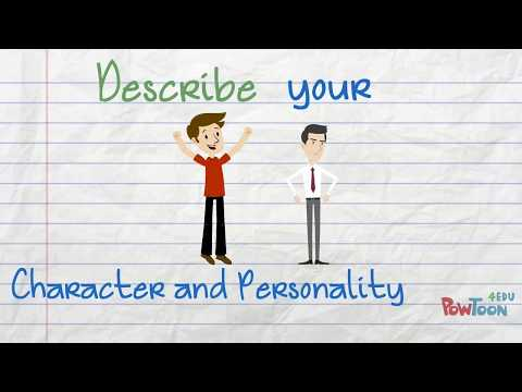 Describe Your Character and Personality in English