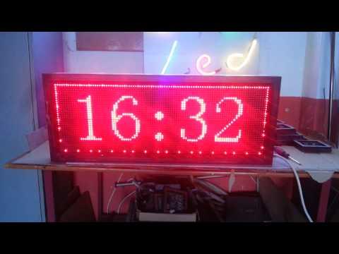 Saat-Tarih Kırmızı Grafik Pano