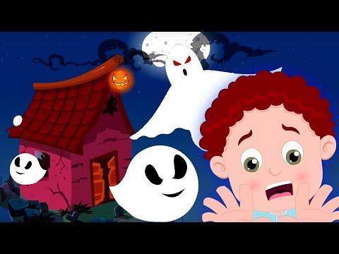 Haunted Ghost House | Schoolies Cartoons | Halloween Songs for Kids