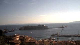 2014-07-23 - Departure of the Costa Concordia from the Giglio island