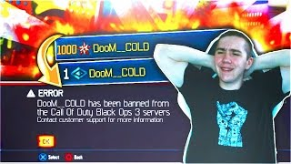 """LEAVE A """"LIKE"""" to help get my call of duty Black Ops 3 Stats/Rank back and reverse my ban!GhostNinja's video ► https://youtu.be/cbkR6w48K_QLIVE reaction of being banned ► https://youtu.be/dEFOUJ4yNAY★ JOIN THE #ColdCrew!• Subscribe - http://bit.ly/ColdCrew• Twitter - http://www.twitter.com/ColdsideTV• Twitch - http://www.twitch.tv/Coldside• Discord (talk to me!) - https://discord.gg/coldside• Instagram - https://www.instagram.com/coldsidetv/Get PAID for your YouTube videos! https://www.unionforgamers.com/apply?referral=nat1upksim6a53★ DooM CLAN!• YouTube - https://www.youtube.com/user/DooMClanYT• Twitter - http://www.twitter.com/WeAreDooMClan• Twitch - http://www.twitch.tv/DooMClanLive• Store - http://store.doomclan.tv/★ MY OTHER CONTENT!• Destiny - https://www.youtube.com/user/DooMClanGaming"""