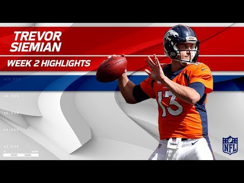 Video: Trevor Siemian Pulls Off 4 TD Game vs. Dallas | Cowboys vs. Broncos | NFL Wk 2 Player Highlights