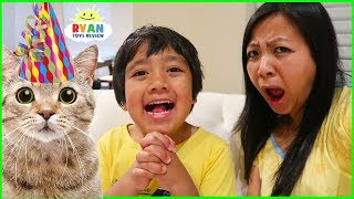 Video Ryan wants More Cats for his Birthday????? MP3, 3GP, MP4, WEBM, AVI, FLV Maret 2019