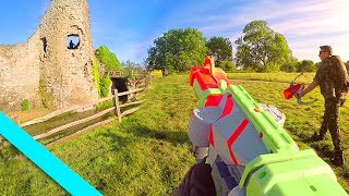 """Nerf War Castle Assault we've been filming this epic Nerf War Castle Assault video over the past month. We've taken the best Nerf War elements to make the Nerf Battle world come to life, from 1st person shooters to Nerf action videos I hope you enjoy this Nerf War Castle Assault video.Follow me!FaceBook https://www.facebook.com/TrueMobsterTwitter https://twitter.com/#!/truemobsterInstagram http://instagram.com/truemobsterHuge thanks to everyone involved in making this possible Starring BeBe V https://www.youtube.com/watch?v=0zhanrZPNN4Directed / Camera - JayArmy guy - HaydenTeam - Jacob, Bebe, Brandon, Claire, Sian, Jack, Lord, Jordan, DanFilming equipment used Sony A7S Mark 2Canon 5d mark 3 Glidecam hd 4000 Visual Effects byhttp://www.big-vfx.com/#ref=15YouTube Fullscreen Partner Music byAudioMicrohttps://jinglepunks.com""""Music from Epidemic Sound (http://www.epidemicsound.com)"""""""
