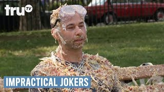 When it comes to dares and punishments, sometimes things can get painful for the Jokers.SUBSCRIBE to get the latest truTV content: http://bit.ly/truTVSubscribeCheck out videos from Impractical Jokers: http://bit.ly/IJTruTVCheck out videos from Billy On The Street: http://bit.ly/BillyOnTheStreetCheck out videos from Adam Ruins Everything: http://bit.ly/ARETruTVCheck out videos from The Carbonaro Effect: http://bit.ly/TheCarbonaroEffectCheck out videos from Comedy Knockout: http://bit.ly/ComedyKnockoutCheck out videos from Hack My Life: Inside Hacks: http://bit.ly/HackMyLifeCheck out videos from Talk Show The Game Show: http://bit.ly/TalkShowTheGameShowCheck out videos from Upscale with Prentice Penny: http://bit.ly/UpscaleWithPrenticePennySee more from truTV: http://bit.ly/FunnyBecauseItsTRULike truTV on Facebook: http://bit.ly/truTVFacebookFollow truTV on Twitter: http://bit.ly/truTVTweetsFollow truTV on Instagram: http://bit.ly/truTVInstaAbout truTV:Seen across multiple platforms in 90 million households, truTV delivers a fresh and unexpected take on comedy with such popular original series as Impractical Jokers, Billy on the Street, The Carbonaro Effect, Adam Ruins Everything, Hack My Life and Fameless, as well as the original scripted comedy Those Who Can't. The fun doesn't stop there. truTV is also a partner in airing the NCAA Division I Men's Basketball Championship.(Show Name)- Video-Specific Title  truTVhttp://bit.ly/truTVSubscribe