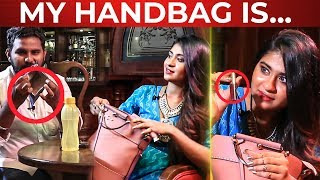 VIJAY TV Nithyasree's Handbag Secrets Revealed | FUN Overloaded !