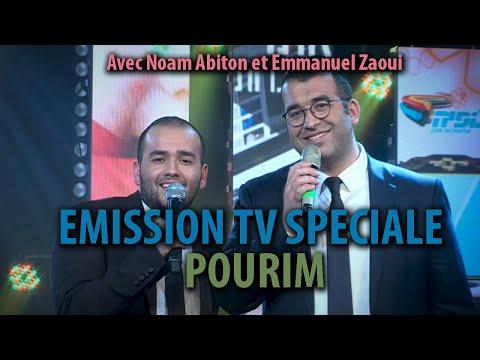EMISSION TV SPECIALE POURIM avec Noam Abiton et Emmanuel Zaoui