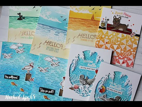 Beachy Backgrounds | My Montly Hero June 2018 8 Cards