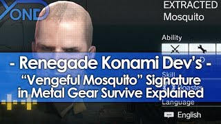 "Video Renegade Konami Dev's ""Vengeful Mosquito"" Signature in Metal Gear Survive Explained MP3, 3GP, MP4, WEBM, AVI, FLV November 2018"