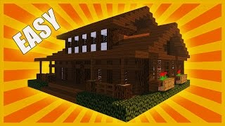 MINECRAFT: How To Build Wooden House ( Christmas Log Cabin )