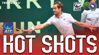 Watch Hot Shot as Richard Gasquet pulls off the unthinkable against Alexander Zverev at the Gerry Weber Open. Watch live matches at http://tnn.is/streamlive....
