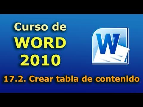 Para que sirve insertar tablas de contenido en word?
