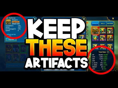 BEST ARTIFACTS TO UPGRADE TO LVL 16! STAT GUIDE!