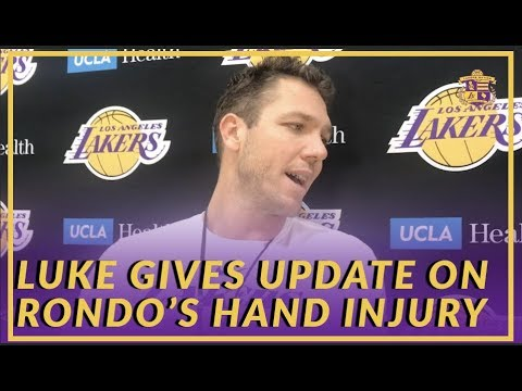 Video: Lakers Interview: Luke Walton Give an Update On Rondo's Hand & Talks About 2003 Draft Class
