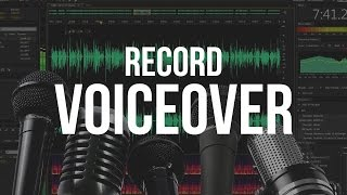 How To Record A Voice Over - Adobe Audition CS6 Tutorial.