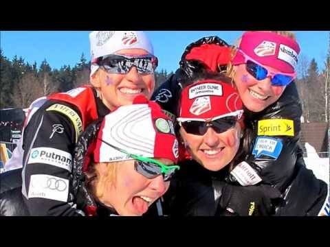 Interviews w/Holly Brooks, Jessie Diggins, and Kikkan Randall in Muonio, Finland (видео)