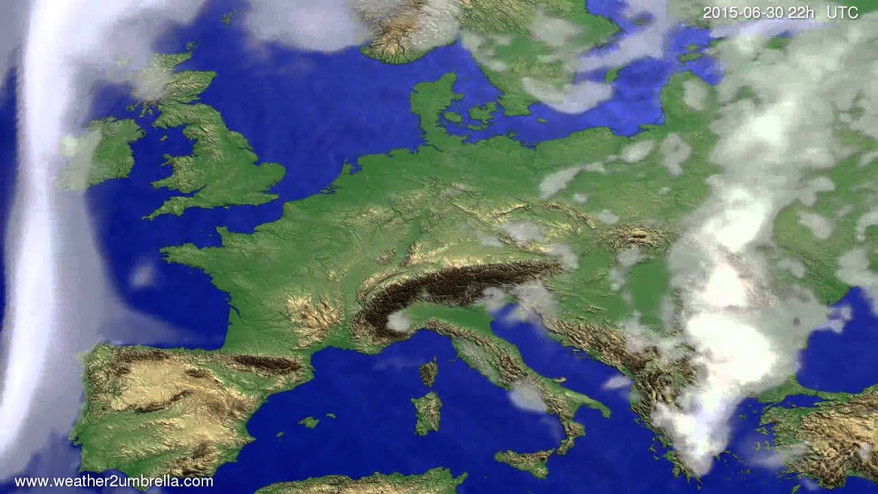 Cloud forecast Europe 2015-06-27