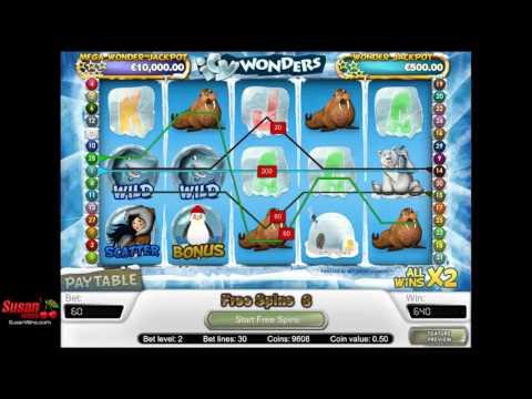 Huge £350 Win - Free Games Bonus - Icy Wonders Online Slot Review