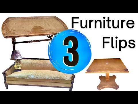 3 Trash to Treasure Furniture Flips in 3 Different Styles | Vintage & Modern | Boho | Colorful