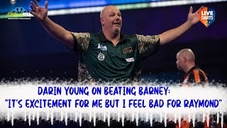 """Darin Young on beating Barney: """"It's excitement for me but I feel bad for Raymond"""""""