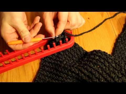 Schal mit Strickrahmen stricken Teil 08/11: Abschluss