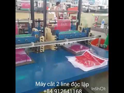 Máy cắt bịch nilong 2 line độc lập chất lượng cao