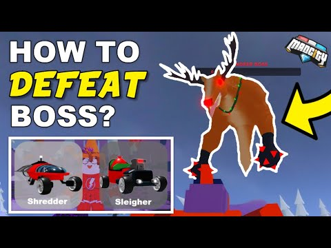 How to DEFEAT Reindeer BOSS EASY? (Mad City Event Glitch)