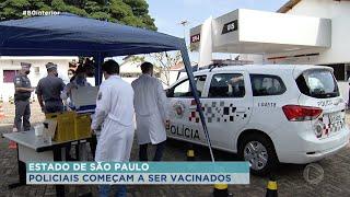 Policiais começam a ser vacinados contra Covid-19 em Bauru
