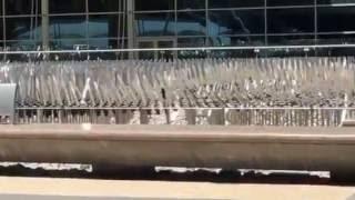 Outdoor metal sculpture at the Denver Airport
