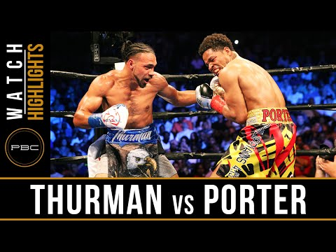 keith thurman vs shawn porter - highlights