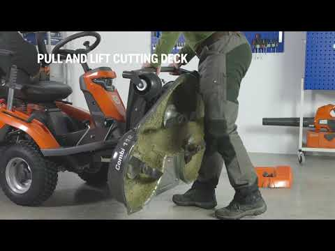 Садовый райдер бензиновый HUSQVARNA R 316TX AWD - видео №4