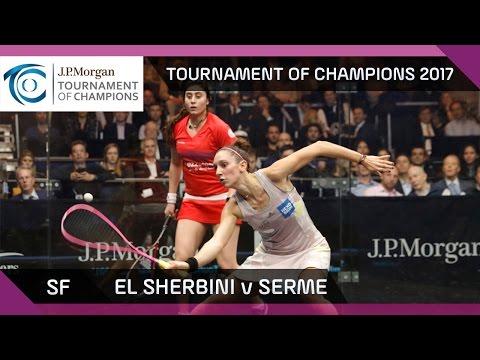 Squash: El Sherbini v Serme - Tournament of Champions 2017 SF Highlights