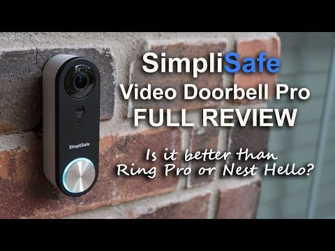 Simplisafe Video Doorbell Pro Review - Unboxing, Features, Setup, Settings, Installation, Footage