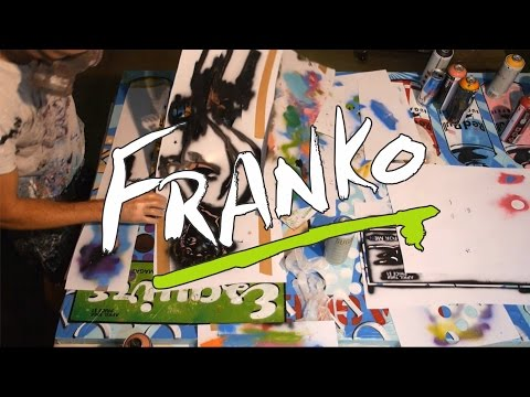 Franko Artist - Urban Pop art - Live and raw painting