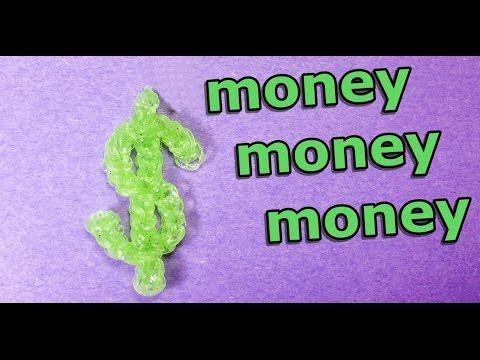 Rainbow Loom: DOLLAR SIGN (Money) Charm: How to Design (DIY Mommy)