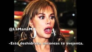 Lucia Mendez revela que su secreto de belleza es ¡FUMAR MARIHUANA! Ademas, que se acerca mas a Dios. ¡DROGADICTA DESCARADA!