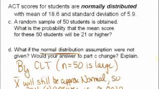 STATS 250 Week 07(a): Chapter 9 Sampling Distribution of Sample Mean