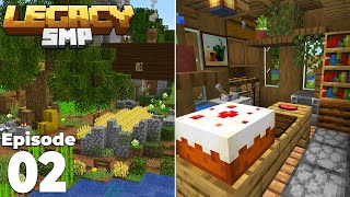 LegacySMP : Episode 2 : Building our STARTER FARMS and Interior Decorating!