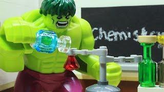 Video Lego Hulk School Superhero Stop Motion - Chemistry Class MP3, 3GP, MP4, WEBM, AVI, FLV Agustus 2017