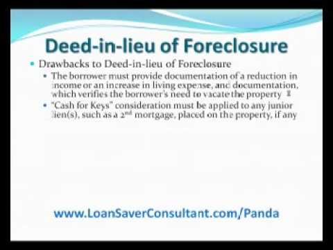 Is a Deed in lieu of Foreclosure a good option?