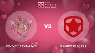 Ninjas in Pyjamas vs Gambit Esports - RU @Map2 | Dota 2 Valentine Madness | WePlay!
