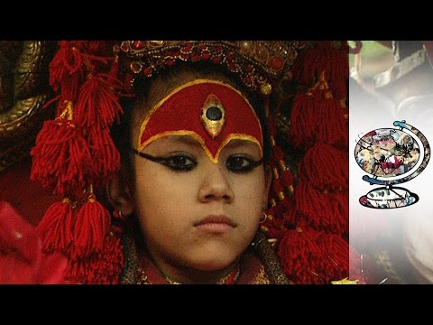 Video The 3 Year-Old Nepalese Girl Revered As A Living God download in MP3, 3GP, MP4, WEBM, AVI, FLV January 2017